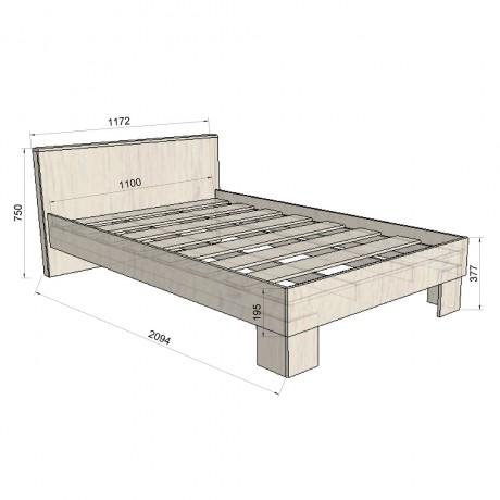 66. Кровать спальное место (схема)