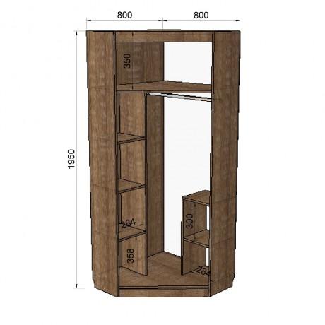 70. Шкаф угловой (схема)