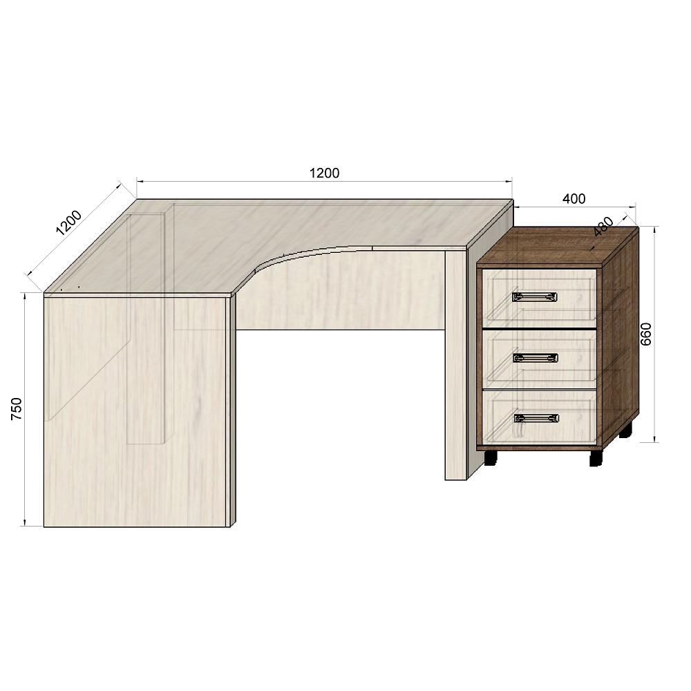 Стеллаж низкий офисный Loft design L125 серебро в