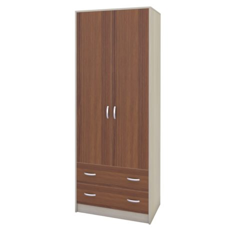 Шкаф-1 от детской (Сосна Лоредо — Орех Экко)